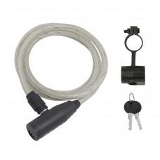Cadeado ECO c/ chave 120x8mm, transp