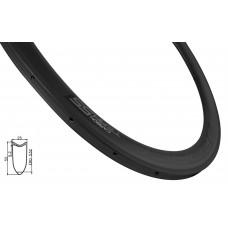 Aro road tubular carbono 55mm, 24 furos