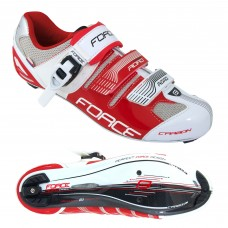 Sapatos FORCE ROAD carbono, br/vm