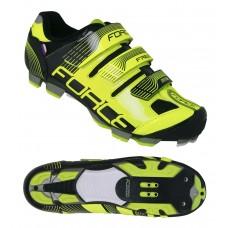 Sapatos FORCE MTB FREE, fluo/pr